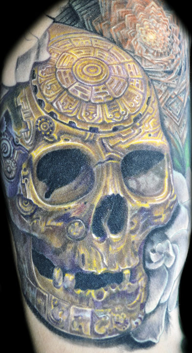 Nate Beavers- tantra skull- Large