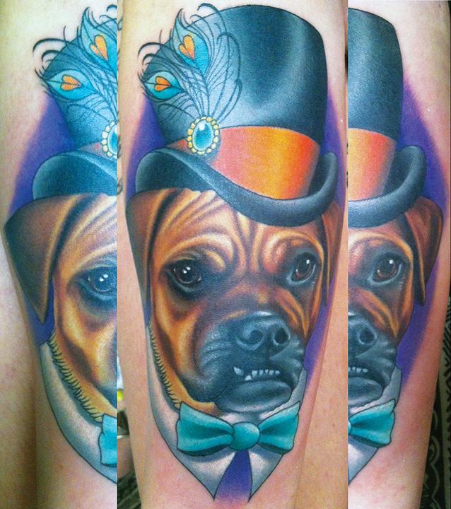 gentlemen dog tattoo